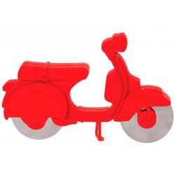 Roulette a pizza SCOOTER rouge